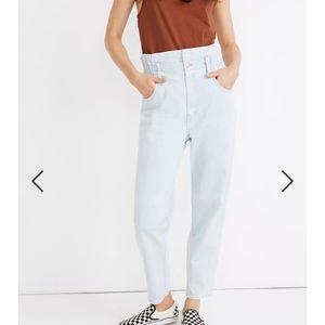 Madewell Paperbag Waist Straight Leg Jeans